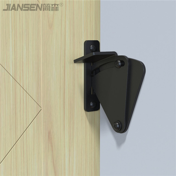 barn door lock-black